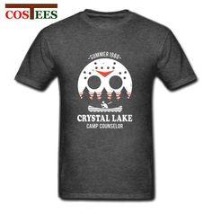 4caa713e0 Crystal Lake Tee horror T-shirt Jason Friday the 13th Camp Counselor women  men shirt