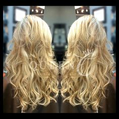 "Bet you wouldn't guess this is AIRess would you?!  Marilyn is someone who just wanted volume with her already lengthy hair and the ""Highlight/Lowlight (Beach Blonde/Dirty Blonde)"" is her perfect match!!! Shop her look today at http://www.QueenCHair.com!"