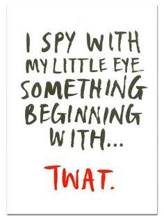Something Beginning With... Greeting Card - The Curious Pancake