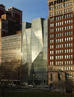 Spertus Institute in Chicago. Love the contrast of old next to new. Visited this amazing building in October.
