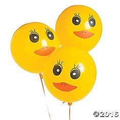 Add some quacktastic fun to your party supplies when you inflate these Duck Printed Latex Balloons. Printed with duck faces, inflate these latex balloons with . Baby Shower Duck, Rubber Ducky Baby Shower, Boy Shower, Baby Shower Party Supplies, Baby Shower Parties, Pool Parties, Rubber Duck Birthday, Fun Express, Duck Face