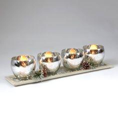 Mercury Glass Votive Runner | Kirkland's