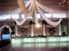 Canopy & lights dance floor decor
