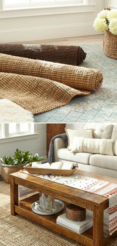 I love this natural jute rug. This hand-woven rug is comfy underfoot and visually appealing from any angle, thanks to a boucle technique, where two fibers are twisted together at unequal tensions, to create a bunched, or popcorn, effect. Natural, durable, adorable and definitely a-floorable. #ad #rug #natural #jute #comfy #homedecor #popcornjute