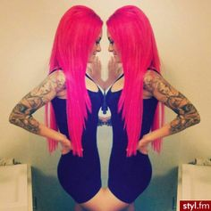 Hair color pink website new Ideas Hot Pink Hair, Hair Color Pink, Violett Hair, Hair Colorful, Blonde Haircuts, Rosa Pink, Girly, Barbie, Coloured Hair