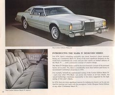 1976 Lincoln Continental Mark IV Cartier Edition