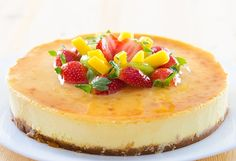 Cheesecake de Maracuyá Te enseñamos a cocinar recetas fáciles cómo la receta de Cheesecake de Maracuyá y muchas otras recetas de cocina.