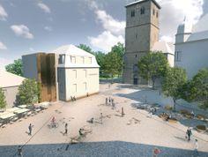 1. Preis: Perspektive, © Gartenlabor Bruns. Platz an der Johannes-Janssen-Str. in Recklinghausen.
