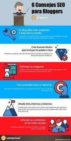 6 consejos SEO para bloggers #infografia #infographic #seo