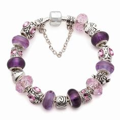 pandora bracelets | images of Mother's Day 925 Silver European Charm Bead Bracelet (G01):