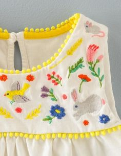 Field Friends Embroidered Top by Boden Field Friends Embroidered Top by Boden Sewing For Kids, Baby Sewing, Baby Girl Dresses, Baby Dress, Kids Mode, Techniques Couture, Baby Kind, Kid Styles, Kids Wear