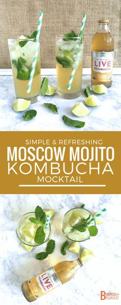 Get ready to try a Moscow Mojito Kombucha Mocktail – a simple and refreshing summer drink you are sure to love that you can enjoy any time of day!