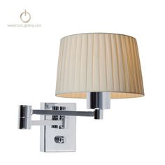The delicate design of Arm Wall Lamp adds a subtle ambiance to your room. Its metal body is chromium plated for superior durability. The metal tube holding the lamp is welded strongly together by hand.