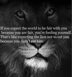 Life is not fair.