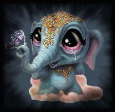 Elefantito de la suerte!