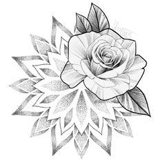 Mandala Tattoo Sleeve, Lotus Mandala Tattoo, Geometric Mandala Tattoo, Mandala Rose, Mandala Tattoo Design, Mandala Drawing, Sleeve Tattoos, Tattoo Designs, Lotus Tattoo Back