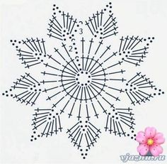 beautiful, beautiful, christmas center in crochet. View and share - Her Crochet Crochet Snowflake Pattern, Crochet Stars, Crochet Snowflakes, Crochet Flower Patterns, Doily Patterns, Thread Crochet, Crochet Designs, Crochet Flowers, Crochet Stitches