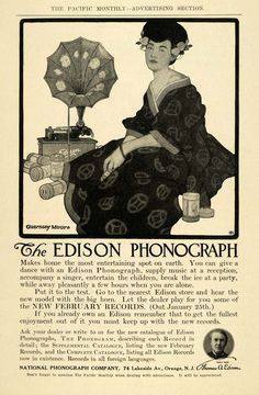 Merchandise & Memorabilia 1904 Edison Home Phonograph National Phonograph Co Orange Nj Vintage Ad Fashionable Patterns Collectibles