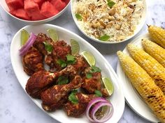 Instant Pot Tandoori Chicken marinated in a spicy yogurt sauce that is pressure cooked for moist and fall off the bone delicious chicken. #ministryofcurry #tandoorichicken #instantpotrecipes Healthy Indian Recipes, Healthy Food Options, Vegetarian Recipes, Best Dinner Recipes, Spring Recipes, Pressure Cooker Recipes, Slow Cooker, Side Dish Recipes, Grill Recipes