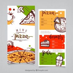 Discover thousands of royalty-free vectors. Graphic resources for … – Pizza Design Menu Pizza, Menu Card Design, Food Menu Design, Stationery Design, Pizza Branding, Pizza Logo, Restaurant Identity, Restaurant Restaurant, Identity Branding