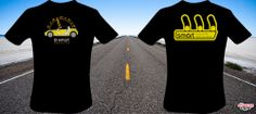 The well known Bumblebee from smart. Two-sided design T-Shirt. One color on the back and three colors on the front, with the BRABUS speedometer. #Tshirts #SmartRoadster #roadster #cars #BRABUS
