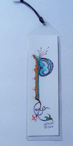 Original Watercolor Bookmark  Illuminated by RaissasArtmarket