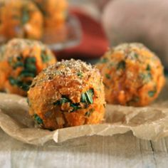 Sweet Potato & Kale Balls Recipe Try with spinach!
