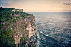 A majestic cliff setting at Uluwatu Temple located in the Bukit Peninsula in Bali, Indonesia.  www.jayme.me