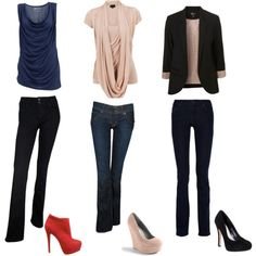 Skinny jeans work for apple-shape women, except if you are top heavy.  For top heavy apple shaped women, wide legged or flared pants work best.  :)