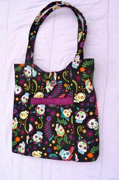 Dia De Los Muertos Handbag by MRSSewphisticated on Etsy, $30.00