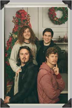 Christmas with Adam, Blake, Anders, and Carl. Workaholics FTW. (: