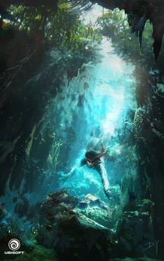 Assassin's Creed IV: Black Flag - Underwater tresaure , Donglu Yu on ArtStation at http://www.artstation.com/artwork/assassin-s-creed-iv-black-flag-underwater-tresaure