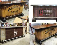 home bar custom hand built rustic whiskey pub man cave barn by WhiskeyCartel | Etsy