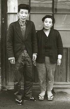 Sakuma Yoshio, Kawamata, in front of his home, 1965