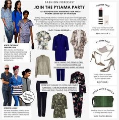 Fashion Forecast - Pyjama Party