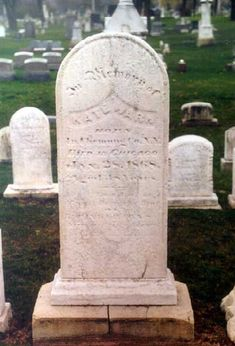 The grave of Kate Warne, credited as America's first female detective. She worked with Alan Pinkerton's detective agency in the 1850s and 1860s, including the Civil War. No photos of her are known to exist.