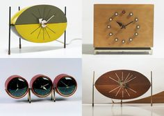 George Nelson table clocks
