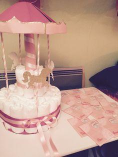 DIY Carousel Diaper cake