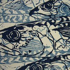 lino print fish - Google Search                                                                                                                                                                                 More