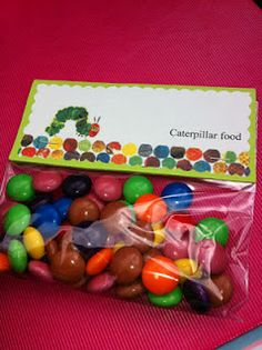 hungry caterpillar treat for each color of food