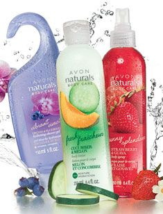 AVON'S  body spa naturals. A Fresh Burst of Energy. Do you want to add a splash of happiness to your day? Shop now at www.youravon.com/mhamilton39 and order today, all on sale!