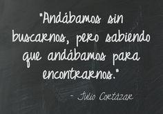 Andábamos sin buscarnos - Julio Cortázar   Vereda Disponible