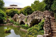 The Japanese Tea gardens at Breckenridge Park, San Antonio