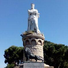 Monumento al Batallador en el Parque Grande