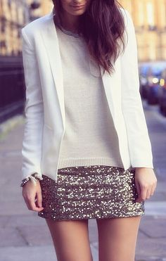 Love sequins and love this combo!!