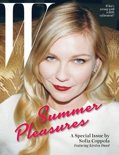 Kirsten Dunst rocks a hot red lip on the cover of W Magazine!
