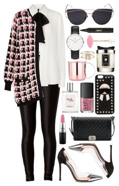 """""""Untitled #528"""" by clary94 ❤ liked on Polyvore featuring MANGO, Karl Lagerfeld, Gianvito Rossi, Chanel, MAC Cosmetics, Fendi, Daniel Wellington, Jo Malone, Yves Saint Laurent and philosophy"""
