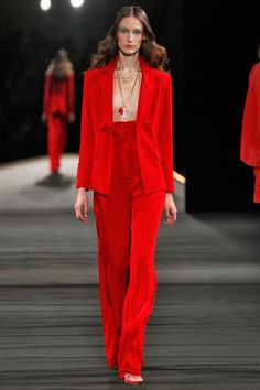 We Dare You To Try These 10 Trends From Paris Fashion Week #refinery29  http://www.refinery29.com/2015/10/95460/paris-fashion-week-spring-2016-runway-trends#slide-7  Jackets With Nothing UnderneathNext time you reach for a blazer or jacket, skip the part where you put on a shirt underneath. Instead, rock your outerwear on bare skin and even bling it out with layered necklaces — just don't forget the Hollywood tape.Alexis Mabille...