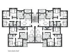 Buying 20 Unit Apartment Building Plans About Remodel Apartment Design Plans With 20 Unit Apartment Building Plans Apartment Design Easy Residential Building Plan, Building Design Plan, Building Layout, Plan Design, Building Plans, Home Design, Design Ideas, Design Studio, Interior Design
