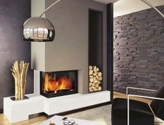 #Cheminee #Fireplace | La cheminée grand angle, foyer deux faces [Brisach]